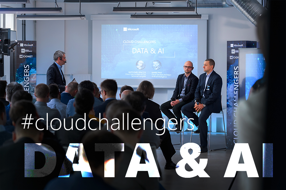 DATA and AI - Marek Pyka i Bartłomiej Graczyk podczas kick-offu programu Cloud Challengers
